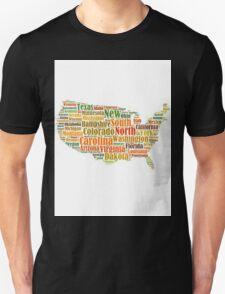 t-shirts map united states, states white T-Shirt