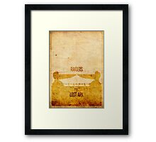 Raiders (aged) Framed Print
