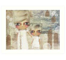 seaside angels Art Print