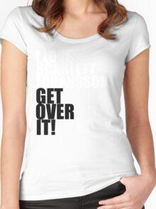 I love Scarlett Johansson. Get over it! Women's Fitted Scoop T-Shirt
