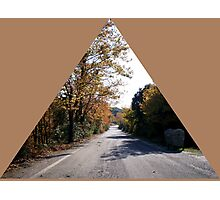 country road in the autumn Photographic Print
