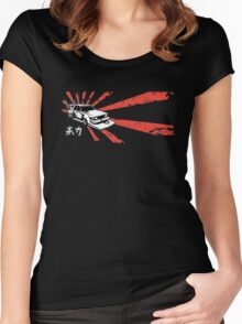 Japanese Bosozoku  Women's Fitted Scoop T-Shirt