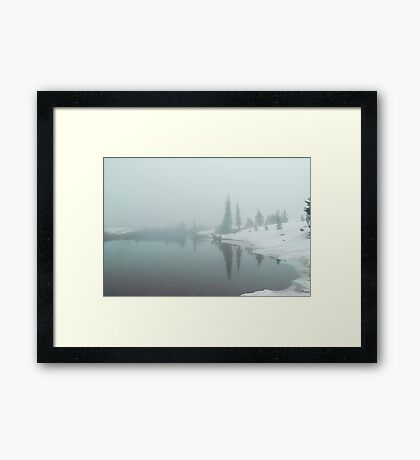 Fogged and Snowed in Framed Print
