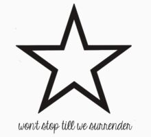 Won't Stop Till We Surrender - Black by Savannah Siders