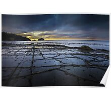 Tessellated Pavement at Sunrise Poster