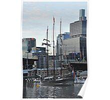 """""""Oosterschelde"""" Departing Cockle Bay, Sydney, Australia 2013 Poster"""