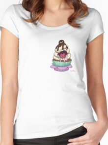 CupCakes Who Bite Back - Cookie and Cream Women's Fitted Scoop T-Shirt