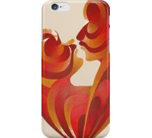Lovers Kiss And Their Bodies Form A Love Heart Isolated iPhone Case/Skin