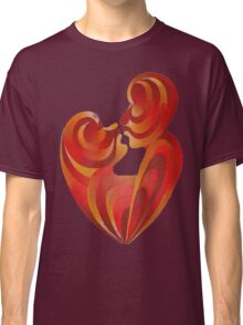 Lovers Kiss And Their Bodies Form A Love Heart Isolated Classic T-Shirt