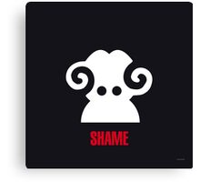 Negemotion: SHAME Canvas Print
