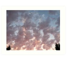 Clouds trees Art Print