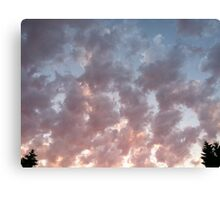 Clouds trees Canvas Print