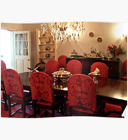Formal Dining Room at Eisenhower Farm, Gettysburg PA Poster