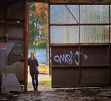 Open door - Old Geelong Tannery by Hans Kawitzki