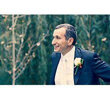 Excited Groom Photographic Print