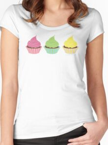 I'll Take Three Cupcakes Women's Fitted Scoop T-Shirt