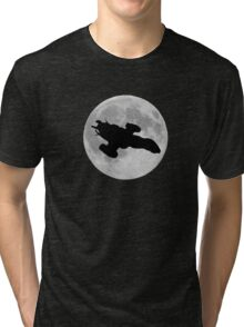 Serenity against the moon Tri-blend T-Shirt