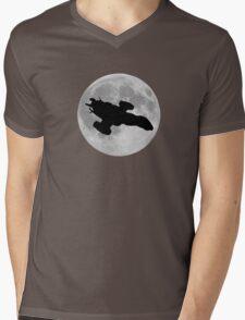Serenity against the moon Mens V-Neck T-Shirt