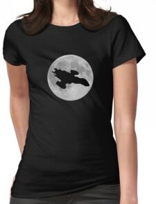 Serenity against the moon Womens Fitted T-Shirt