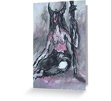 Model in pagan garb Greeting Card