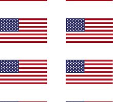 Made In USA Flag Decals - American Product Sticker by deanworld