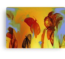 Like A Moth To The Flame Abstract Canvas Print