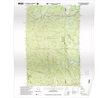 USGS Topo Map Washington State WA Gleason Mountain 241314 1996 24000 Poster