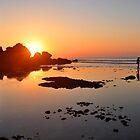 Sunset In Padang-Padang Beach by Santonius