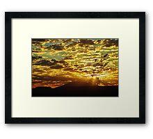 Navajo Sunset Framed Print