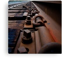 Down On The Tracks Canvas Print