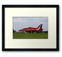 Red Arrows Hawk Framed Print