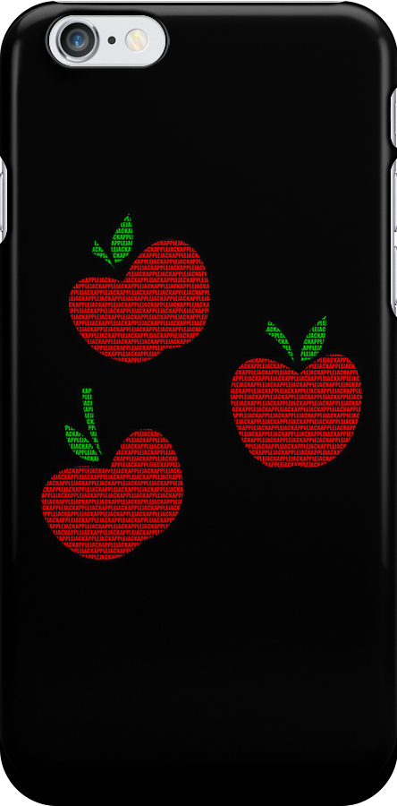Applejack Text Black Iphone Cover by Alessandro Ionni