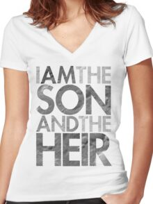 I Am The Son & The Heir Women's Fitted V-Neck T-Shirt