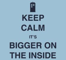 Keep Calm It's Bigger On The Inside by Shaun Beresford