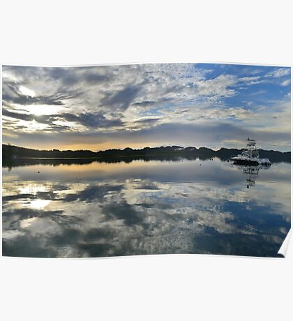 Sunrise in Palau Poster