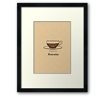 Coffee Addict, Ristretto Framed Print
