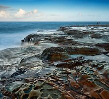 Rock Fishing Avoca by Michael Howard