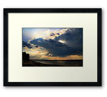 Shooting Rays Framed Print