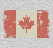 Grungy Canadian Flag Kids Tee