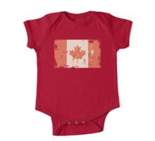 Grungy Canadian Flag One Piece - Short Sleeve