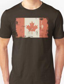 Grungy Canadian Flag Unisex T-Shirt