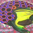 frog vs circles by Perggals© - Stacey Turner