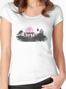 Sakura - Kyoto Japan Women's Fitted Scoop T-Shirt