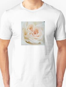 Close Up View Of A Romantic White Wedding Rose Unisex T-Shirt
