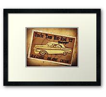 Uncle Tom Hot-Rod Garage Framed Print