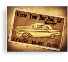 Uncle Tom Hot-Rod Garage Canvas Print