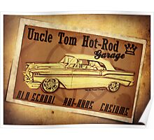 Uncle Tom Hot-Rod Garage Poster