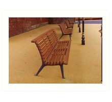 Benched out... Art Print