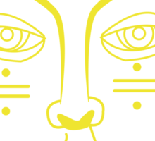 Foster the People Face - Yellow Sticker