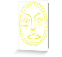 Foster the People Face - Yellow Greeting Card